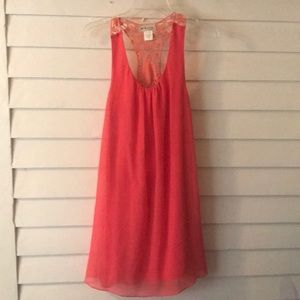 Quiro ( by Aggie) Coral Lace to polyester dress